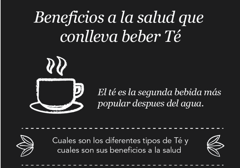 Beneficios a la salud que conlleva beber Té