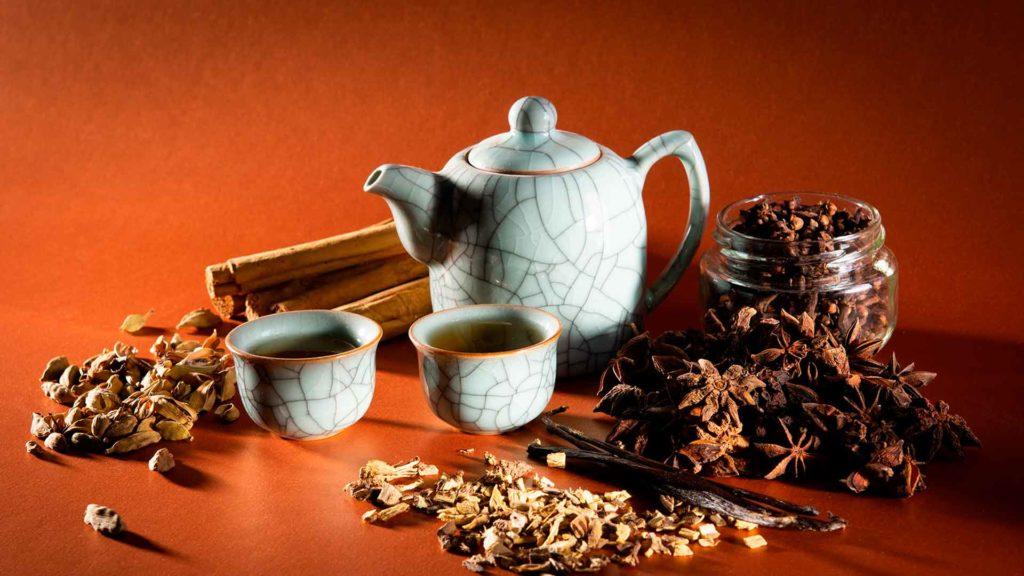 navidad con té